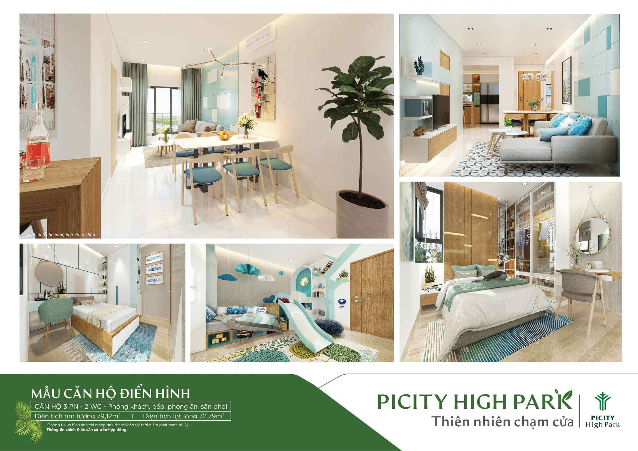 Thiết kế căn hộ mẫu dự án Picity High Park