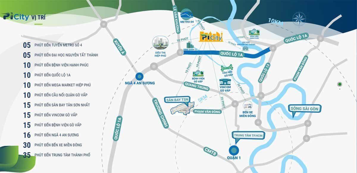 Vị trí địa lý dự án Picity High Park